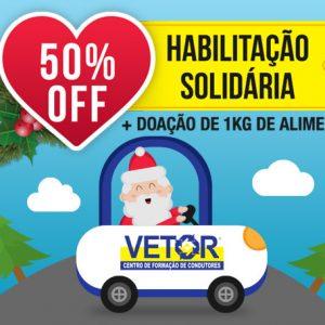Habilitação Solidária – 50% OFF + Doação de 1 kg de alimento