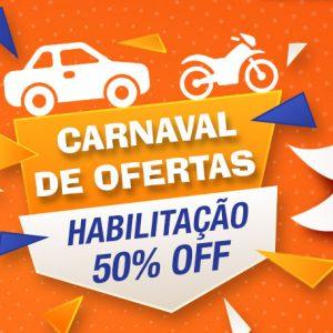 Carnaval de ofertas com a auto escola pela metade do preço. Aproveite!!!